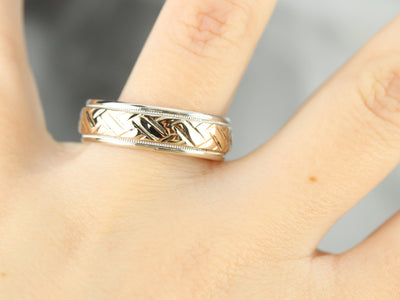 Mixed Metal Vintage Braided Band