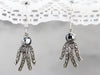 Sterling Silver Hematite and Marcasite Earrings
