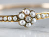 Victorian Rose Cut Diamond and Seed Pearl Bracelet