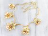 Retro Era Floral Pearl Necklace