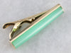 Vintage Chrysoprase Tie Bar in Yellow Gold