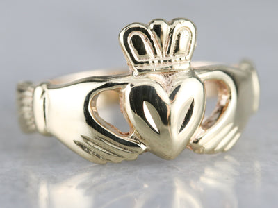 Classic Yellow Gold Claddagh Band