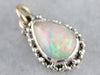 Silver and Gold Opal Pendant