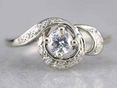 Retro 1950's Diamond Cocktail Ring