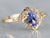Gold Tanzanite and Diamond Ring
