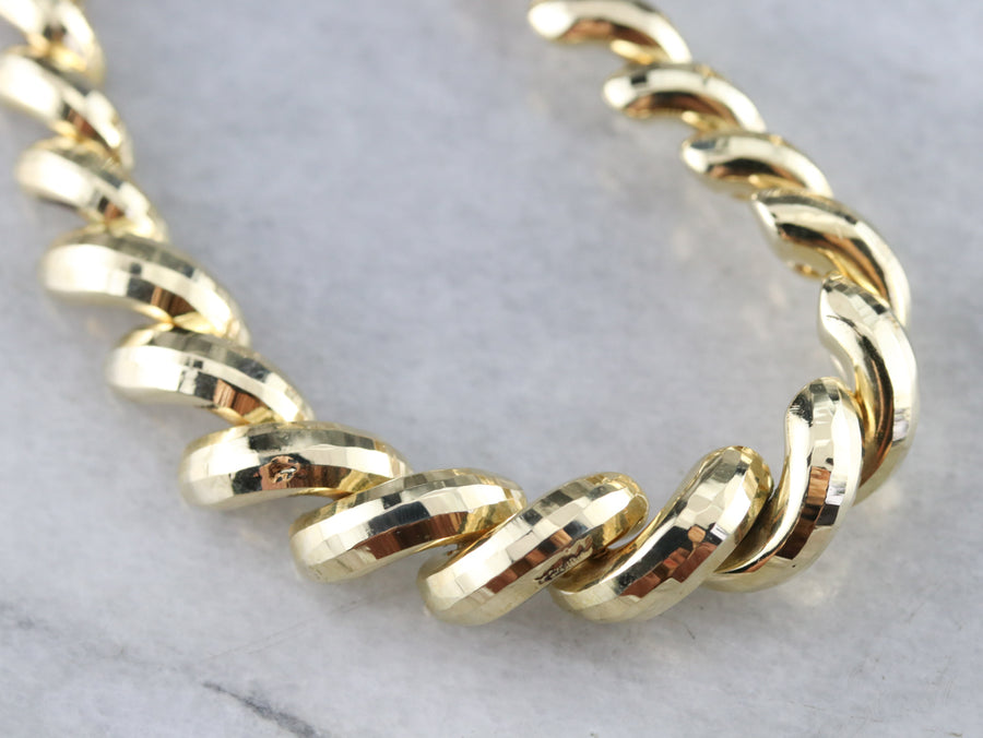 Vintage San Marco Yellow Gold Necklace