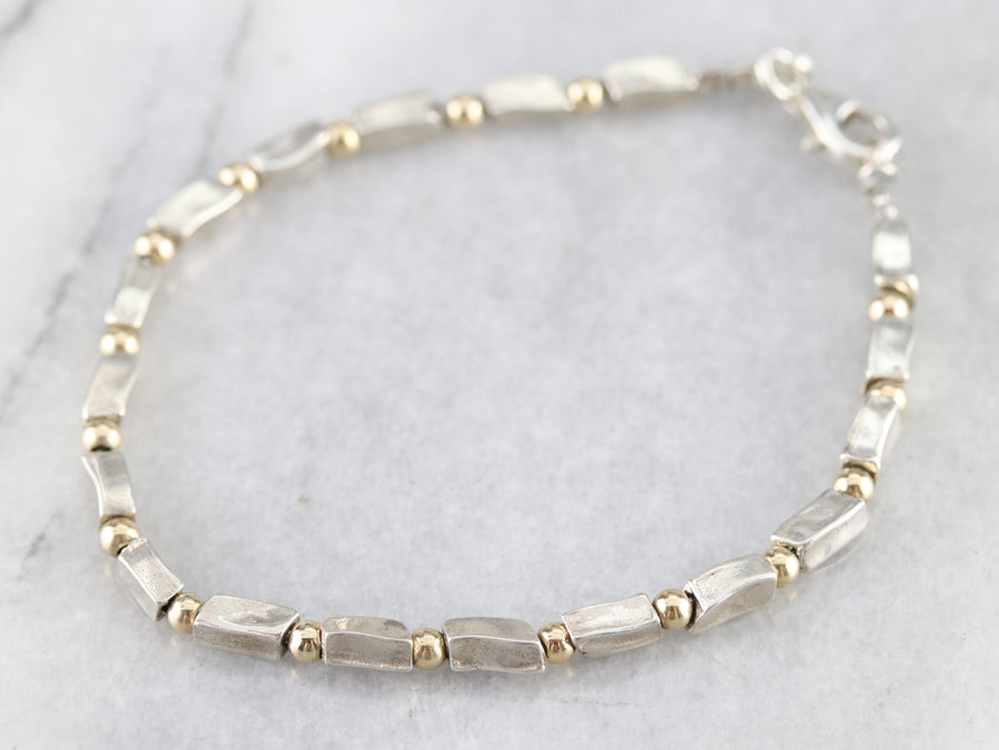 Modern Mix Metal Beaded Bracelet