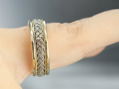Mixed Metal Vintage Woven Band