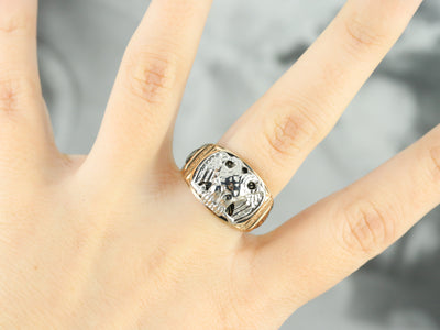 Men's Masonic Twin Headed Eagle Ring