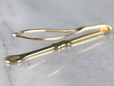 Gentleman's Vintage Gold Tie Bar