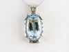 Art Deco Aquamarine Statement Pendant