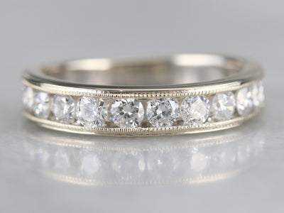 Unisex Channel Set Diamond Band
