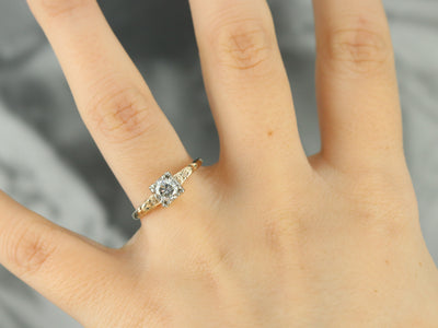 Romantic Diamond Solitaire Ring