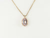 Gold Morganite Statement Pendant