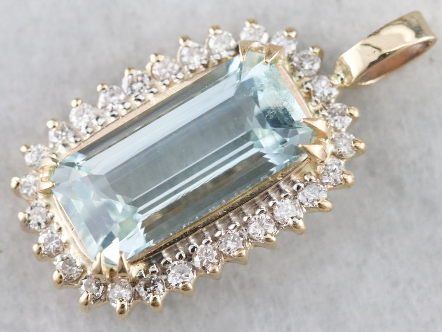 High Quality Aquamarine Pendant