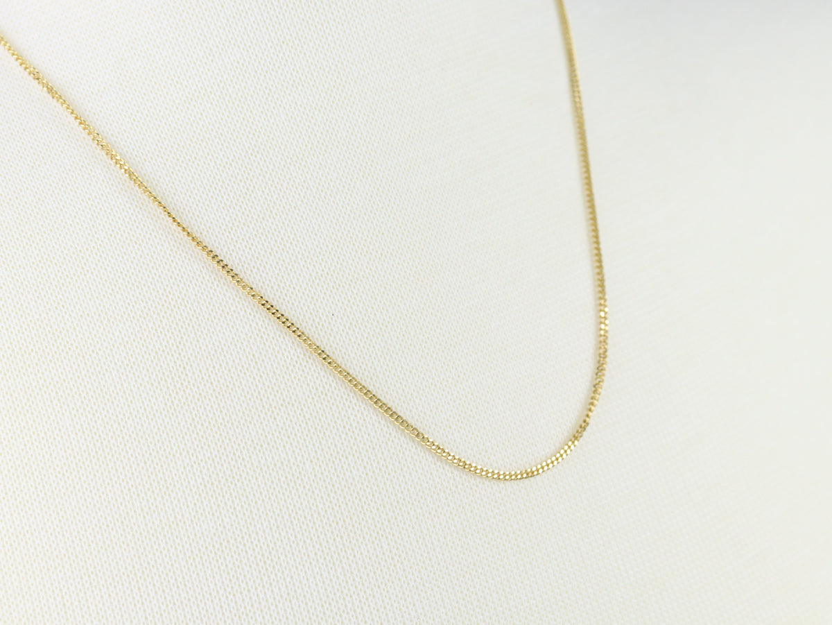 Vintage Yellow Gold Curb Chain