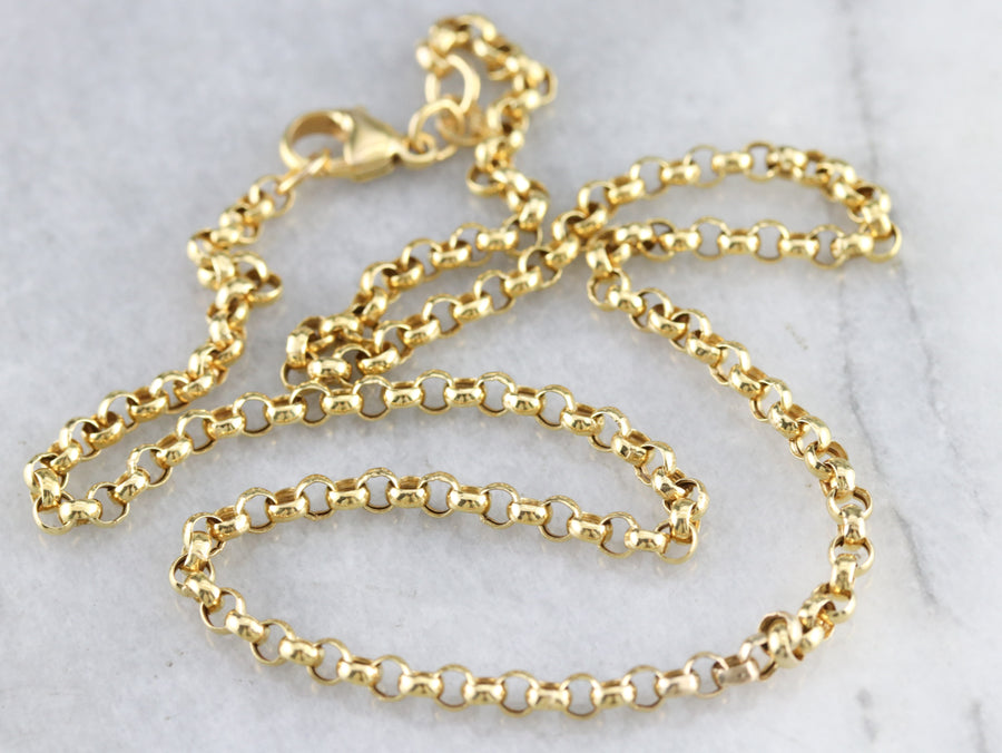 Vintage Rolo Gold Chain
