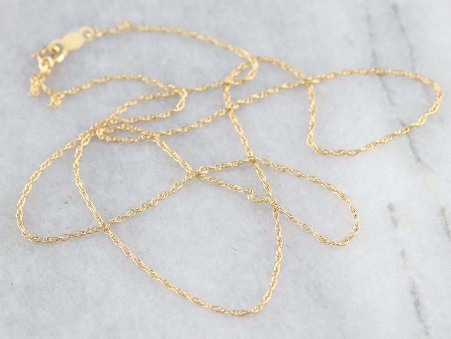 Thin Gold Rope Chain