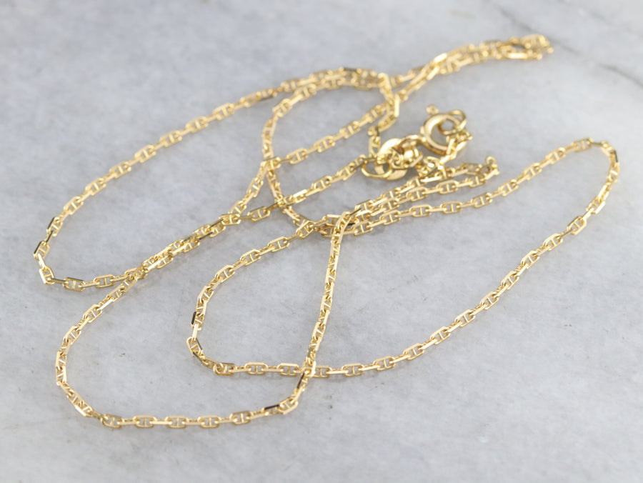 Vintage Gold Anchor Chain