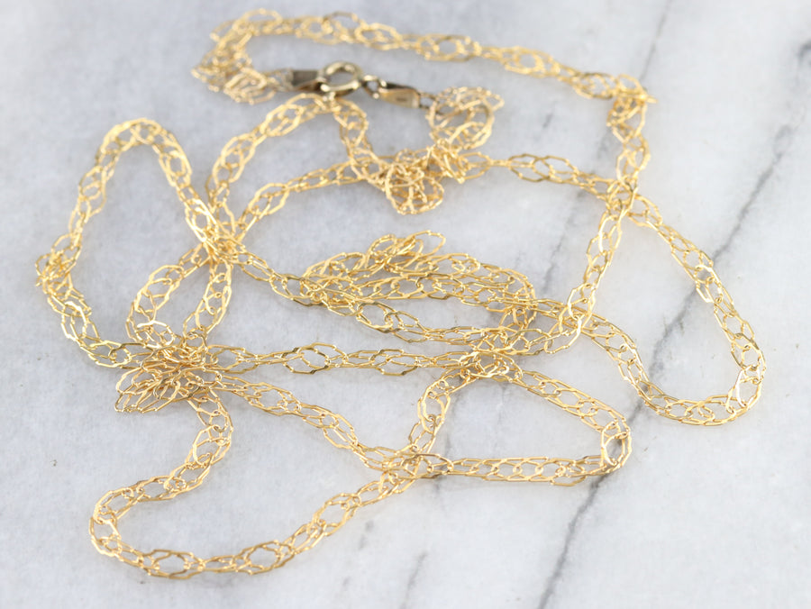 Gold Decorative Twist Chain