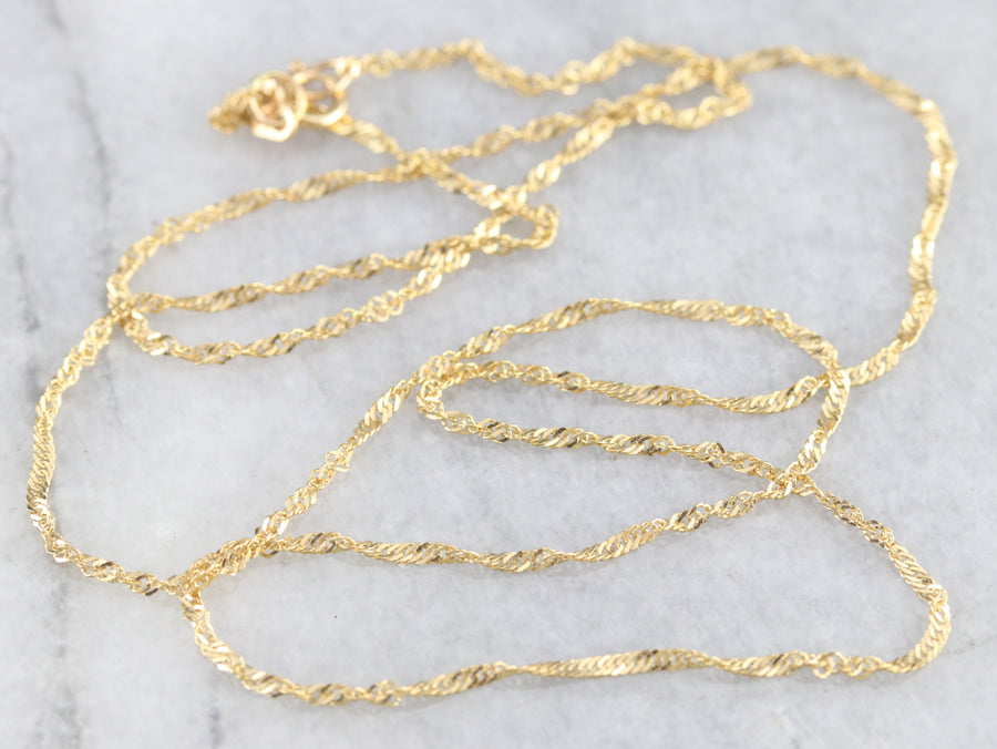 Curb Twist Gold Chain