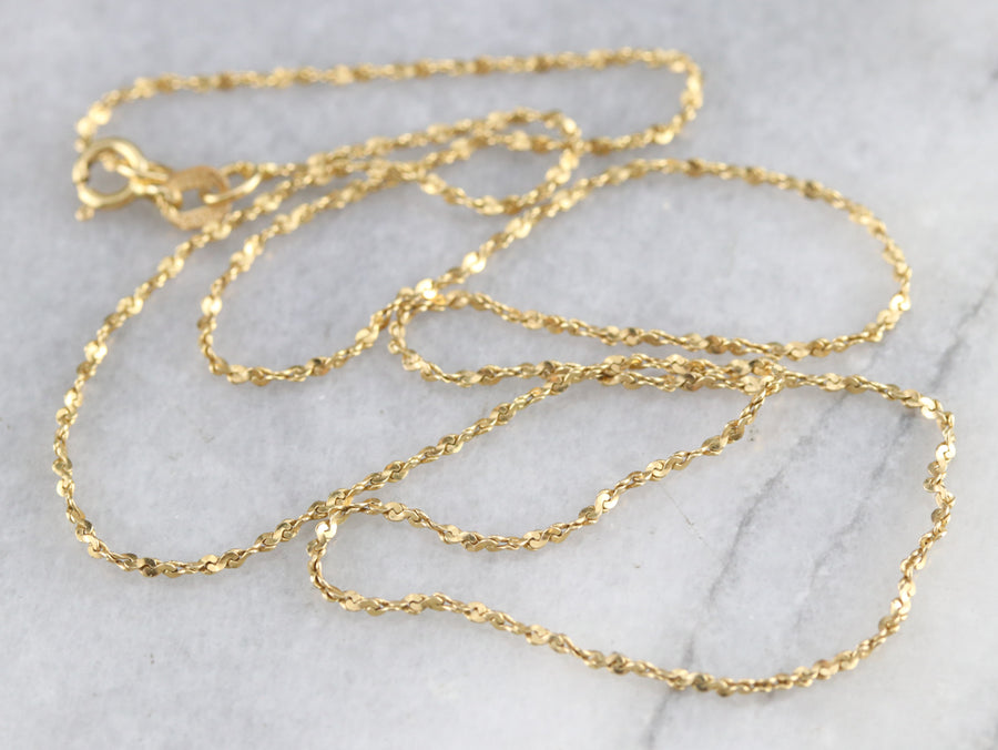 Gold Serpentine Twist Chain