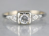 Vintage White Gold Diamond Ring