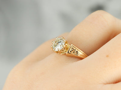 Victorian Diamond Solitaire Ring