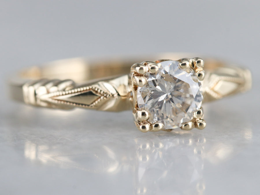 Vintage 1940s Diamond Solitaire Ring