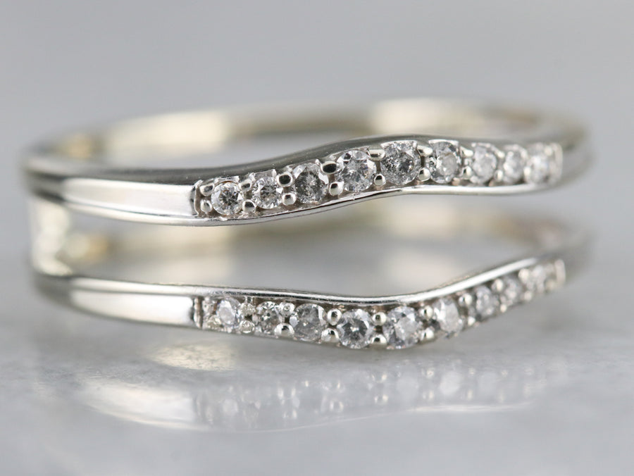 White Gold Diamond Wrap Band
