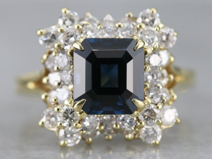 Spinel and Diamond Cocktail Ring