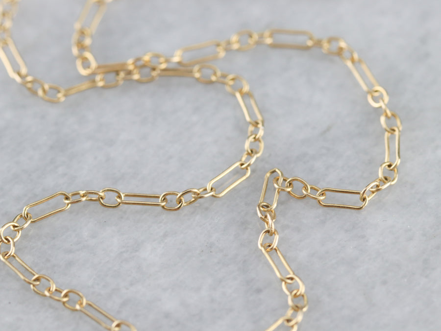 Dainty Yellow Gold Anklet