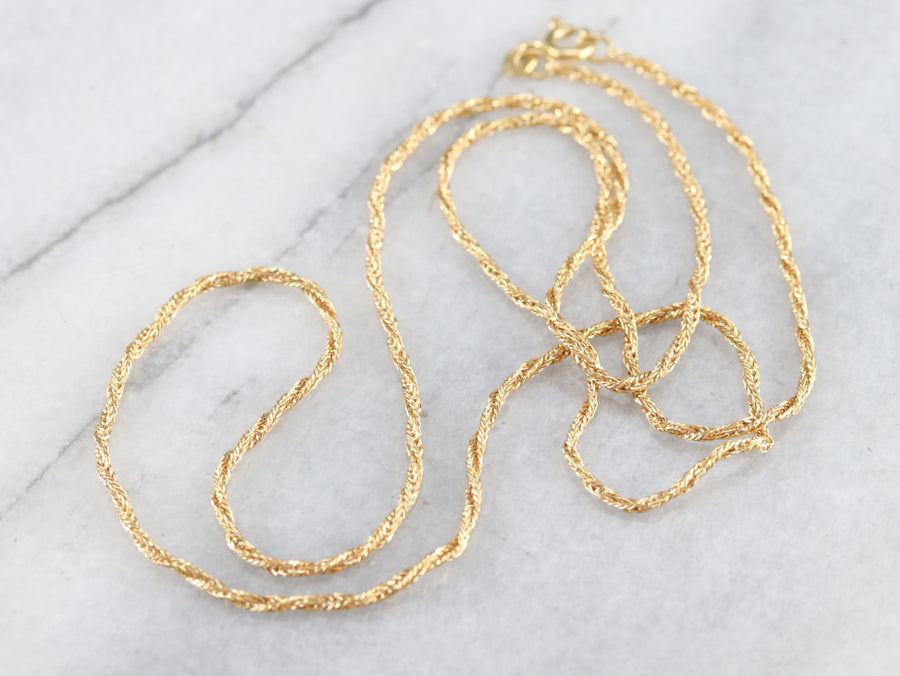 Vintage Rope Twist Chain Necklace