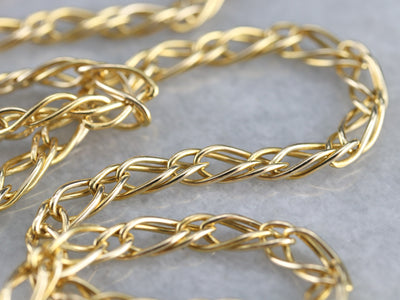 Woven Gold Link Chain Necklace
