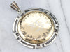 Gold and Silver Diamond Eagle Pendant