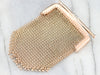 Antique Gold Mesh Diamond Coin Purse