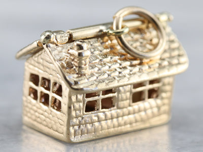 Our Home Vintage Gold Charm