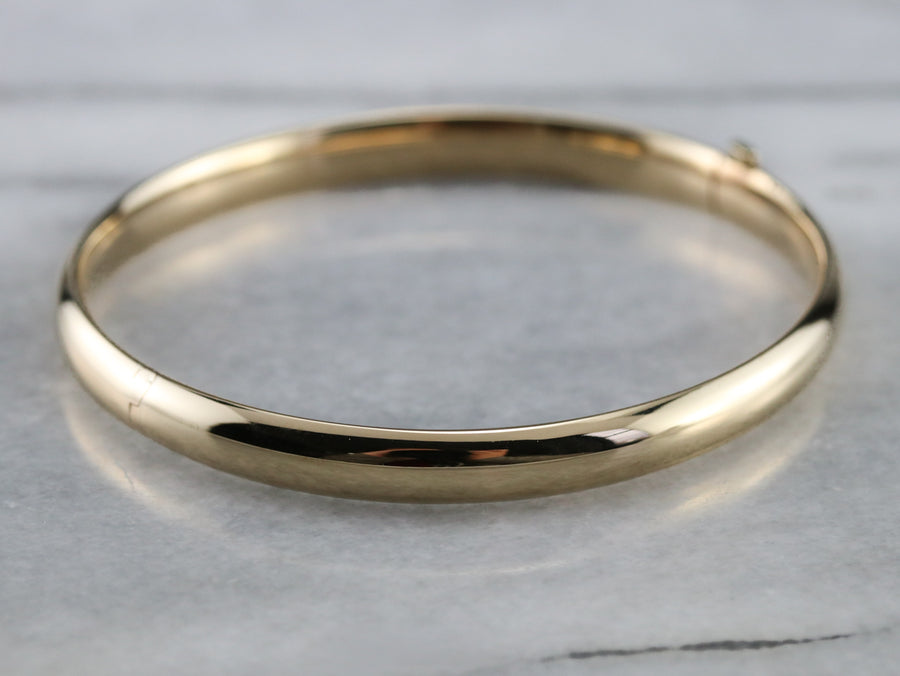 Plain Gold Bangle Bracelet
