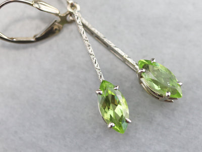 Deco Style Peridot Drop Earrings