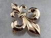 Antique Fleur De Lis Brooch or Pendant