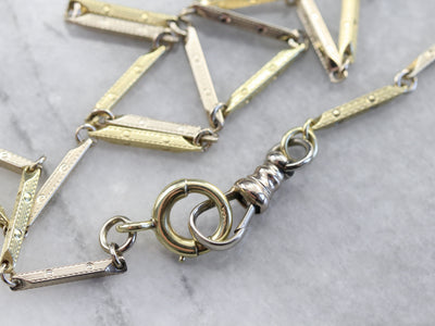 Retro Era Gold Pocket Watch Chain