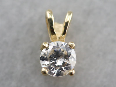 Gold Diamond Solitaire Pendant