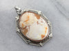Gold Art Deco Diamond Cameo Pendant