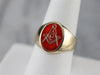 Vintage Enameled Masonic Ring