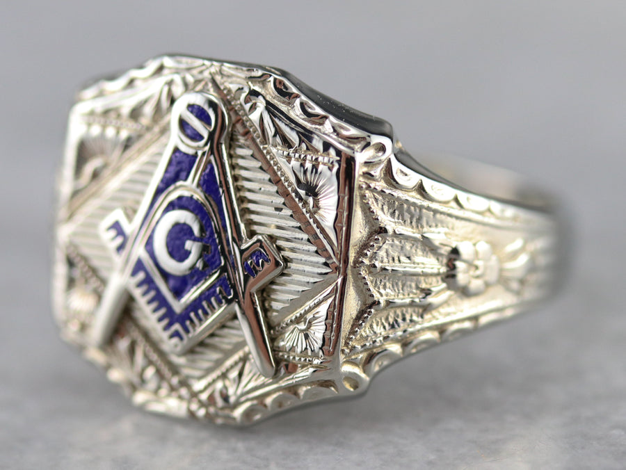Art Deco Men's Masonic Ring