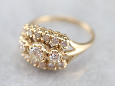 Vintage Diamond Cocktail Ring
