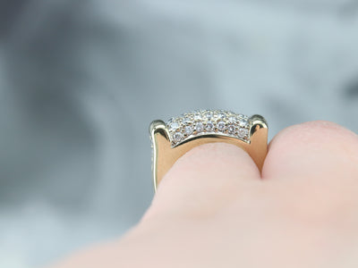 Diamond Encrusted Gold Statement Band