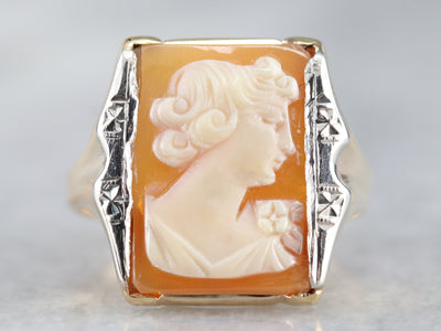 Mixed Metal Cameo Ring