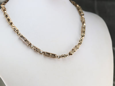Victorian Rose Gold Chain Necklace
