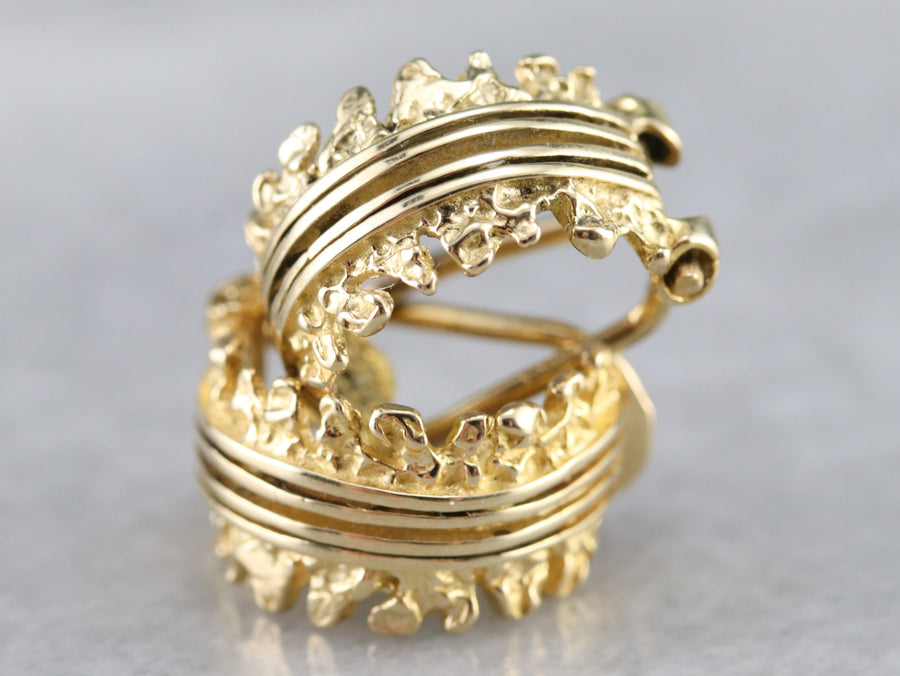 Non-Pierced Vintage Gold Hoop Earrings